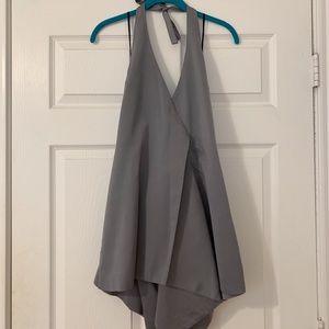 Semi formal Dress/Romper beautiful sage green/grey